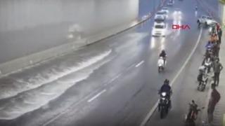 Tünelde büyük şok yaşadılar