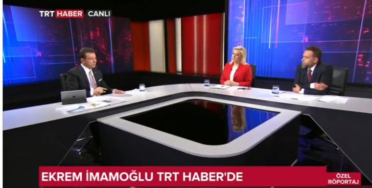 Ekrem İmamoğlu TRT HABER spikerlerini telef etti