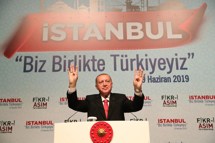 """Erdoğan """"İstanbul biz birlikte Türkiyeyiz Buluşması""""nda konuştu (1)"""