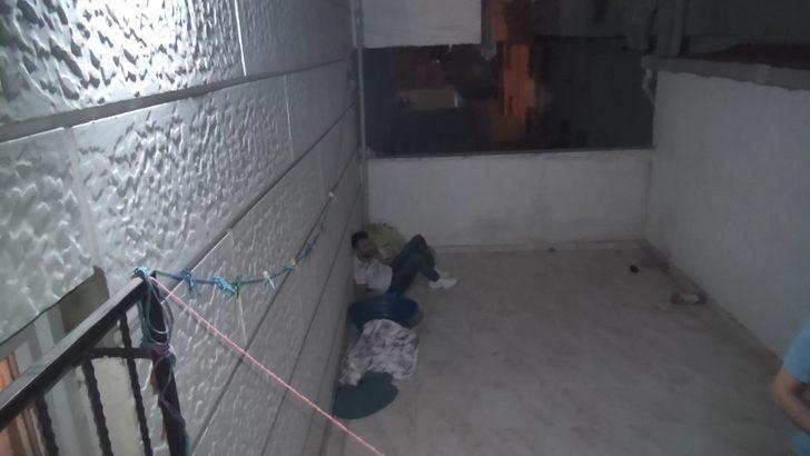 Polisten kaçarken balkondan atladı, bacağı kırıldı