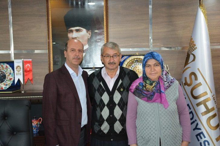 Şehit ailesinden Başkan Bozkurt'a ziyaret