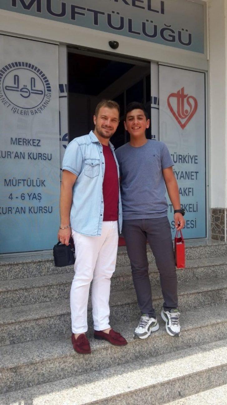 """Türkeli'de """"Ramazan ve İnfak"""" yarışması birincisine ödül verildi"""