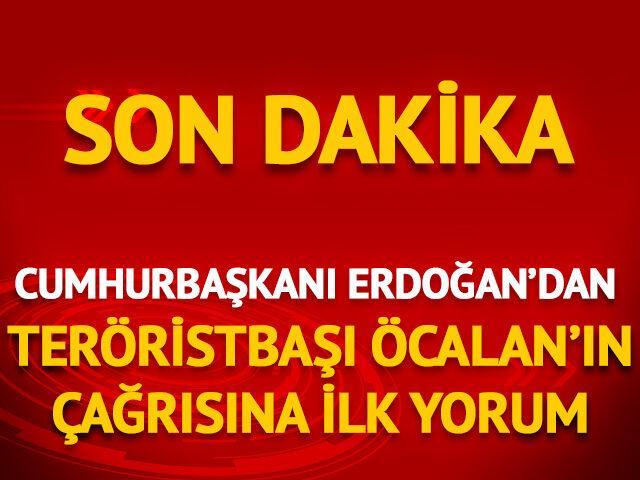Cumhurbaşkanı Erdoğan'dan 'Öcalan'ın mektubu' açıklaması
