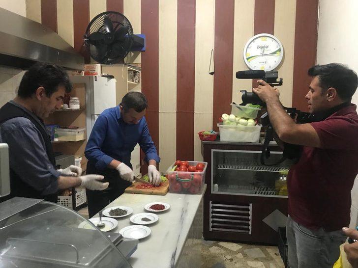 Başkanın yöresel yemek tarifleri hemşehrisi Nusret'i aratmadı