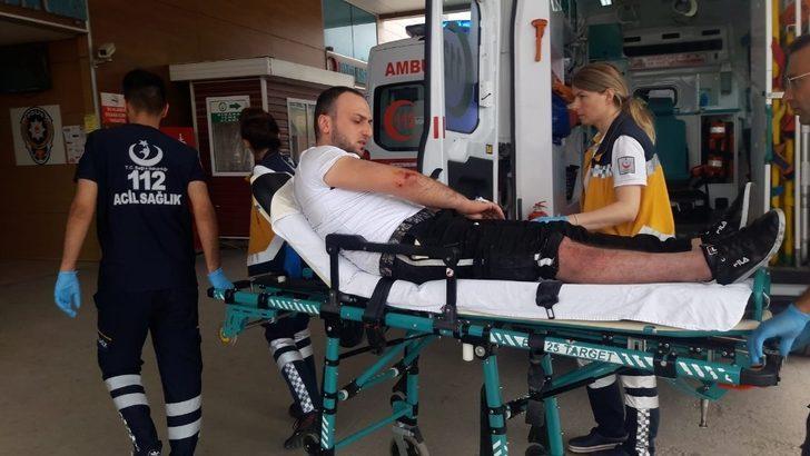 Şarjlı bisilket otomobille çarpıştı: 3 yaralı