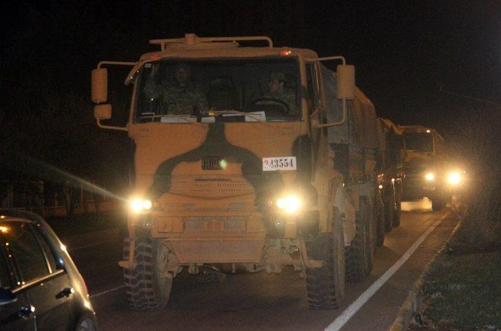Suriye'ye askeri araç ve komando takviyesi