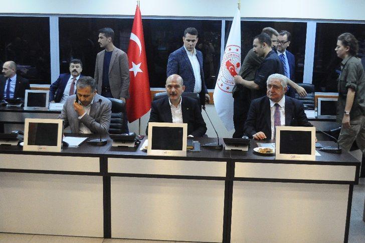 Bakan Soylu, Seçim Güvenlik Koordinasyon Merkezinde toplantıya katıldı