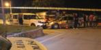 Polis aracına çarptı, korkudan kamyonetin altına saklandı!