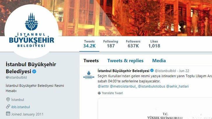 İmamoğlu'nun seçilmesinin arından İBB Twitter hesabında sessizlik hakim!