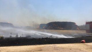 Köye sıçrayan yangın panik yarattı