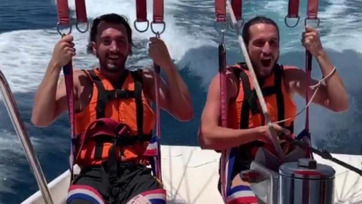 Trabzonsporlu Yusuf Yazıcı ailesiyle tatilin tadını çıkartıyor