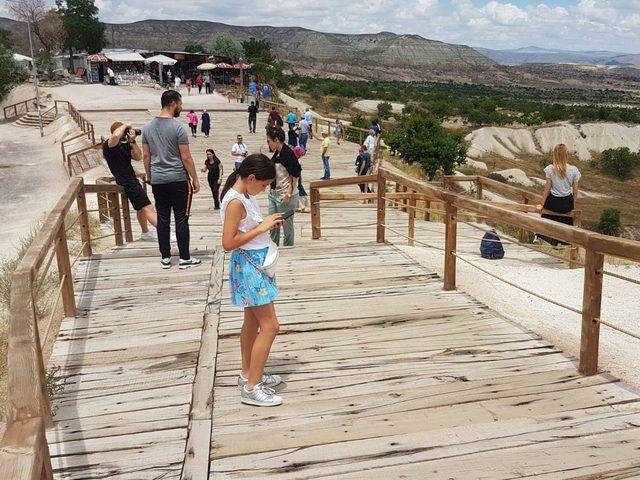 Kapadokya'da yaz tatili yoğunluğu