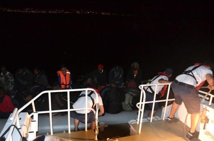 Kuşadası'nda 18'i çocuk 38 kaçak göçmen yakalandı