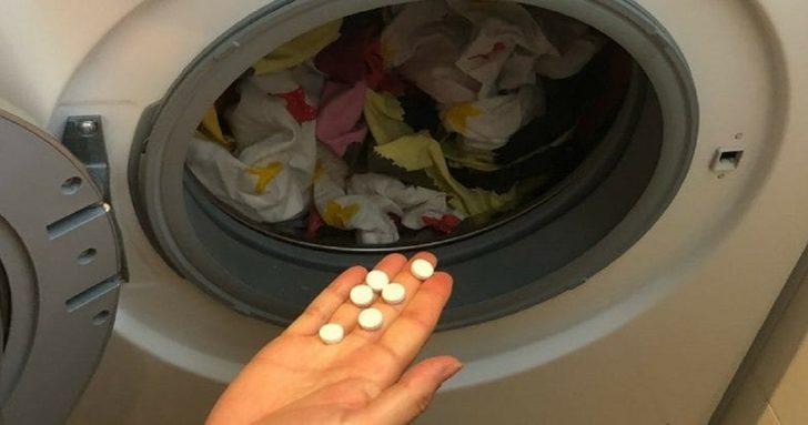 Çamaşır makinenize biraz aspirin eklemeyi deneyin sonuca şaşıracaksınız