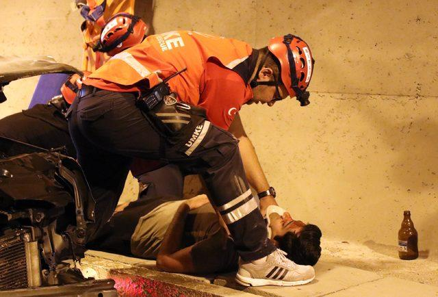 Bitlis tünelinde kaza tatbikatı