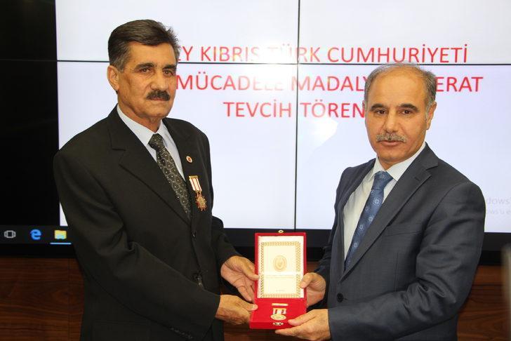 Şırnak'ta, Kıbrıs Barış Harekatı gazilerine madalya