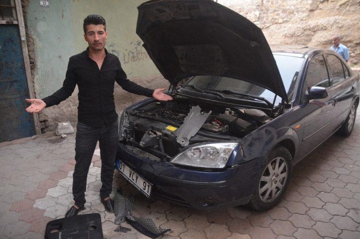 Hararet yapan otomobile müdahale eden itfaiyeye suç duyurusu