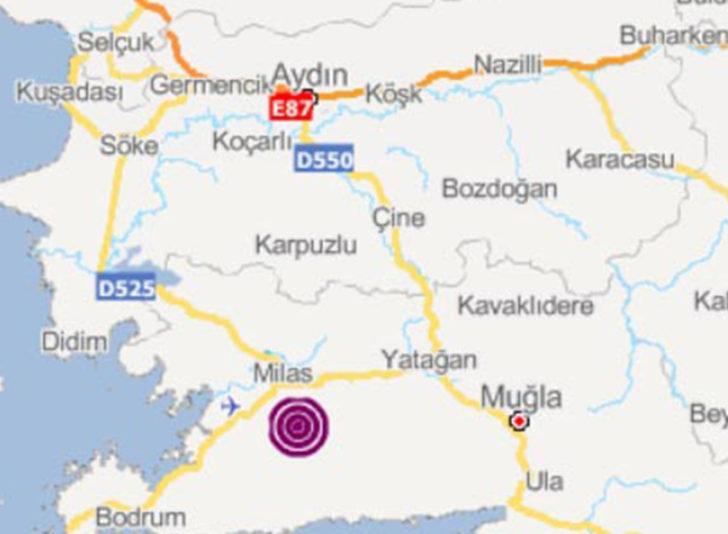 Muğla'da 3,4 büyüklüğünde deprem!