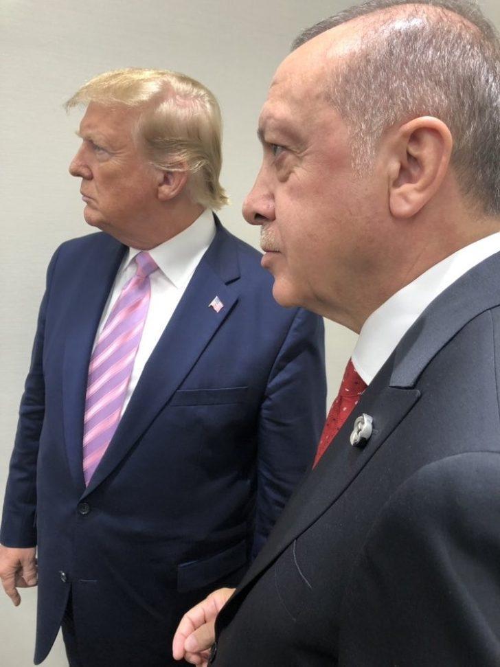 Erdoğan ve Trump'tan G20'de samimi poz