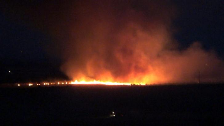 Siverek'teki anız yangınında ailenin çadırı yandı