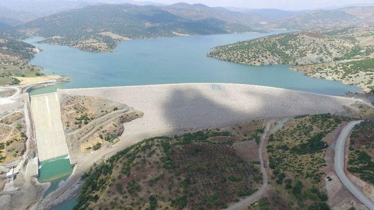 Kilis'in içme suyu problemine son verecek barajda doluluk oranı yüzde 100'e ulaştı