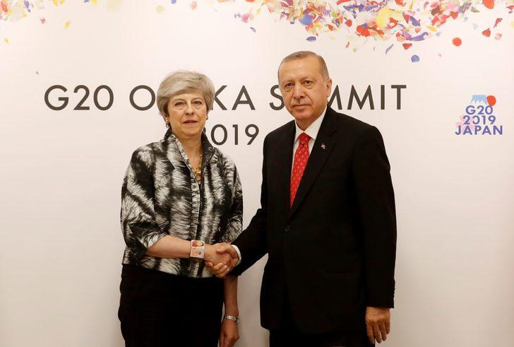 Cumhurbaşkanı Erdoğan, İngiltere Başbakanı May ile bir araya geldi