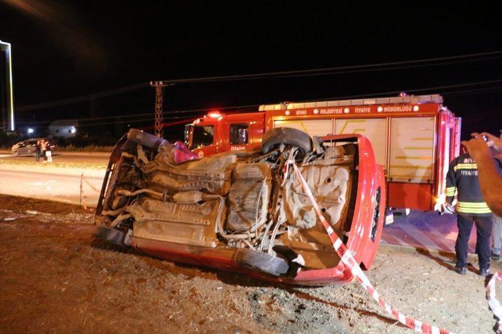 Düğün konvoyunda kaza: 1 ölü, 3 ağır yaralı