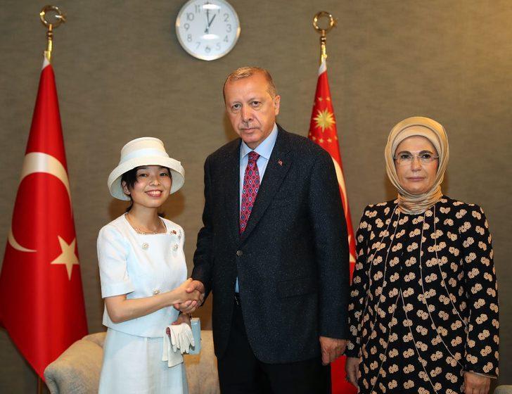 Erdoğan, Altes Prenses Akiko ile görüştü