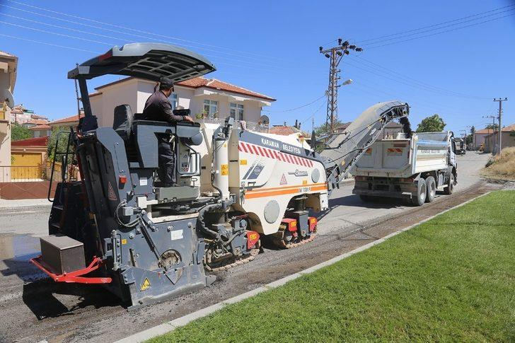 Karaman Belediyesi asfalt çalışmalarına devam ediyor