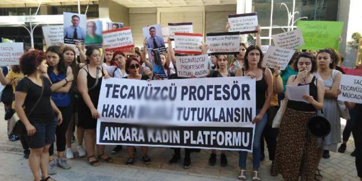 Kadınlar tecavüzden yargılanan Hasan B.'nin tahliyesini protesto etti