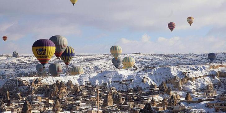 Kapadokya'ya 6 ayda havadan 43 milyon avro geldi