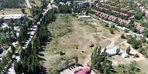 ODTÜ'de, ağaçların kesildiği alan havadan görüntülendi