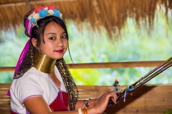 Uzun bir boyun - Burma