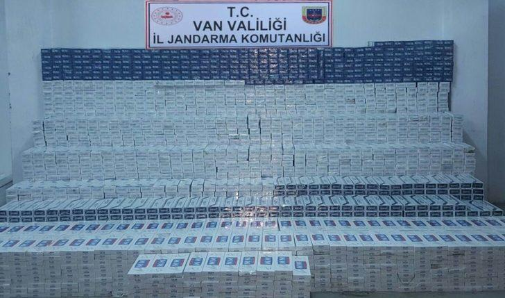 Erciş'te 19 bin 430 paket kaçak sigara ele geçirildi