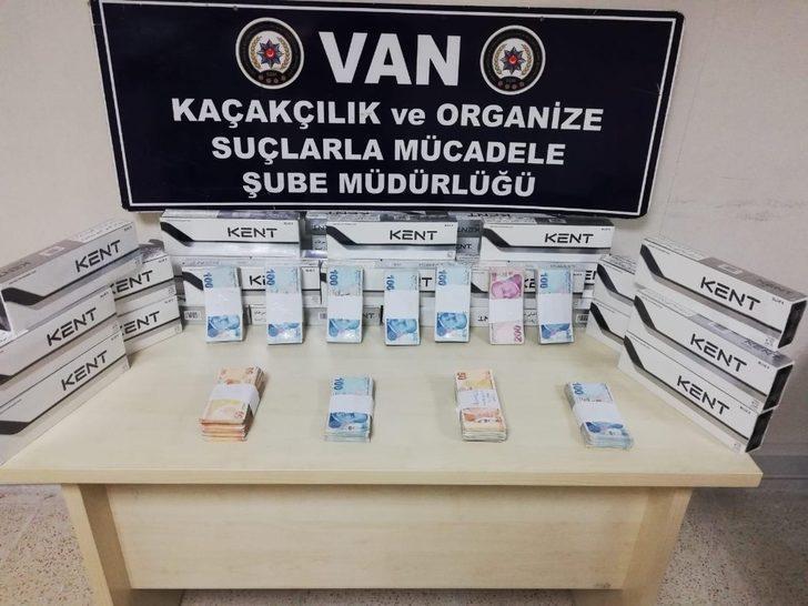 Van'da kaçak sigara ve para ele geçirildi