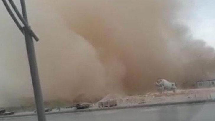 Toz bulutu oluştu! Göz gözü görmedi