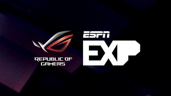ASUS Republic of Gamers, ESPN ile EXP E-Spor oyun turnuvalarında işbirliği yapacağını duyurdu