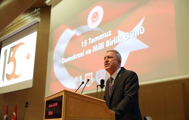 Milli Savunmanı Bakanı Akar'dan terörle mücadelede kararlılık mesajı!