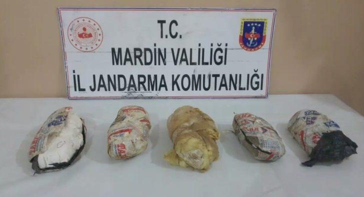 Mardin'de 7 kilogram patlayıcı madde ele geçirildi