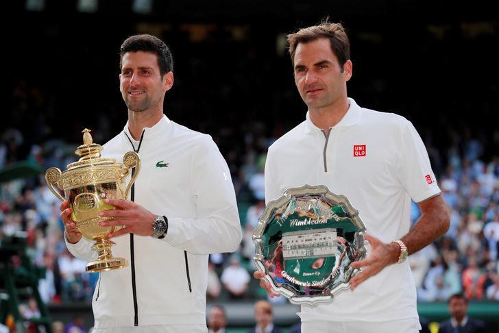 Wimbledon'da tarihi finali Federer'i yenen Djokovic kazandı