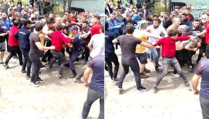 Trabzon'da Kuzey Iraklı turistin elindeki bayrağı görünce tepki gösterip saldırdılar