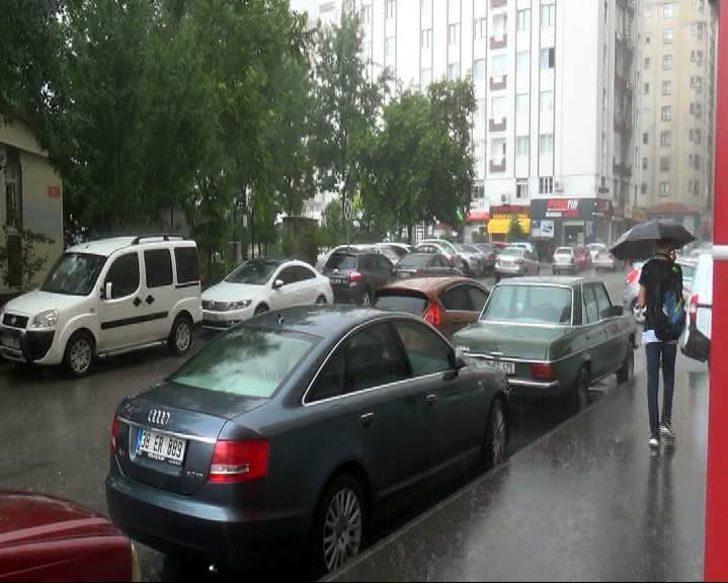 Kayseri'de sağanak yağış