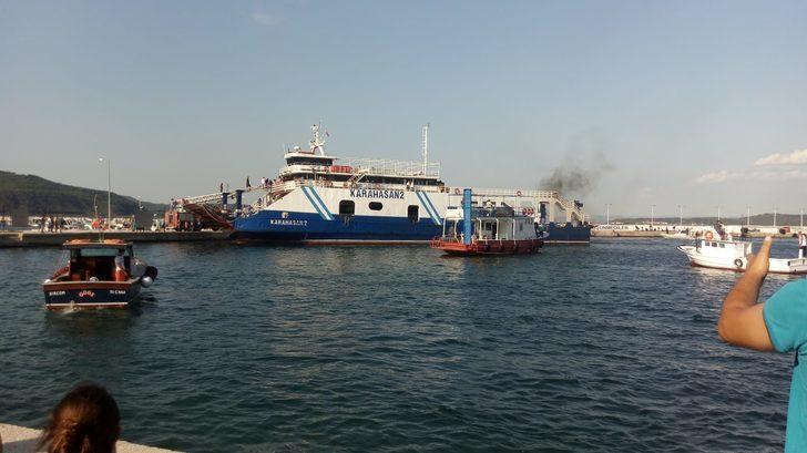 Çanakkale'de feribotta korkutan yangın