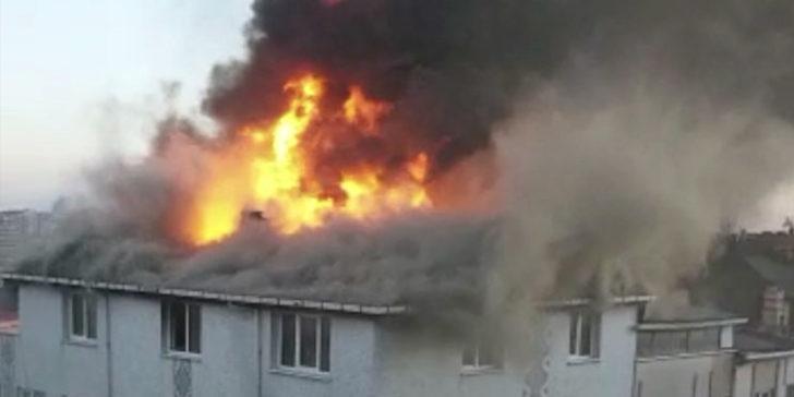 İstanbul Ataşehir'de korkutan yangın