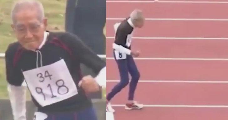 102 yaşındaki koşucu, yaşına meydan okuyor!