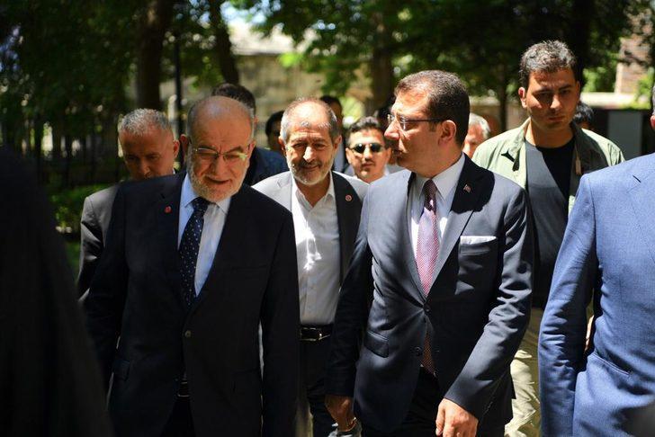 Temel Karamollaoğlu'ndan Ekrem İmamoğlu'na ziyaret