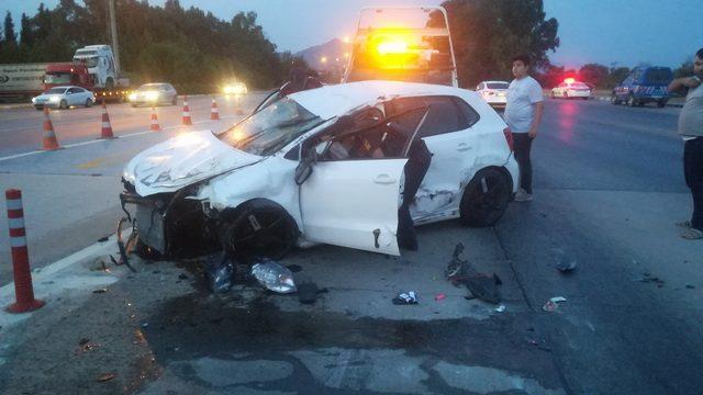 Aydın'ın Germencik ilçesi yakınlarında meydana gelen trafik kazasında 2 kişi yaralandı. ile ilgili görsel sonucu