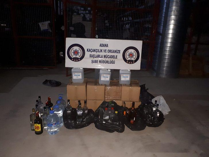Adana'da metil alkol operasyonu!