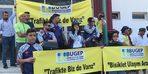 Bisiklet kullanıcılarından 'Trafikte biz de varız' etkinliği