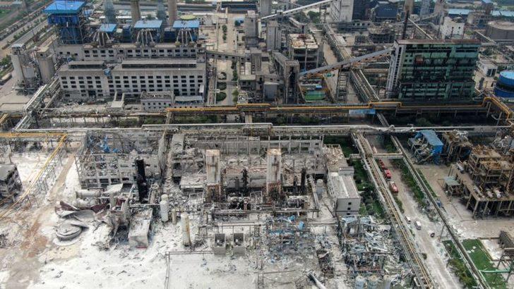 Çin'de Doğal Gaz Tesisinde Patlama